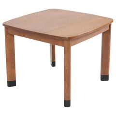 Oak Art Deco Amsterdam School Coffee Table in the Style of Piet Kramer, 1920s