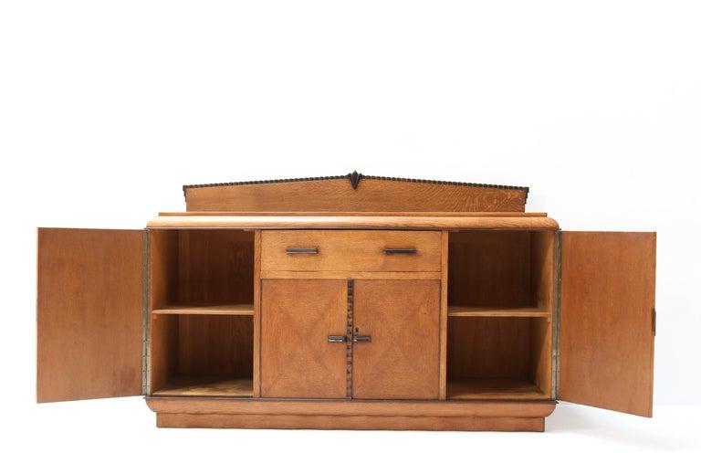 Macassar Oak Art Deco Amsterdam School Credenza or Sideboard by Fa. Drilling Amsterdam For Sale
