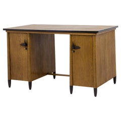 Oak Art Deco Amsterdam School Ladies Desk by Willem Penaat