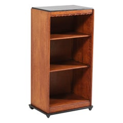 Oak Art Deco Amsterdam School Open Bookcase by Willem Penaat for Metz & Co.