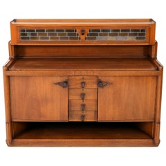 Oak Art Deco Amsterdam School Sideboard or Credenza by Hildo Krop, 1920s