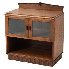 Oak Art Deco Amsterdam School Tea Cabinet by Fa. Drilling Amsterdam, 1920s