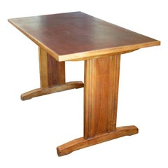 Oak Art Deco Bistro Table, circa 1930