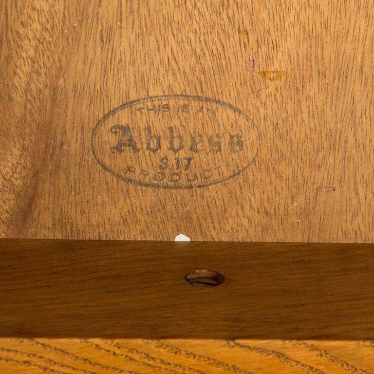 Oak Art Deco Desk with Bronze Handles For Sale 2