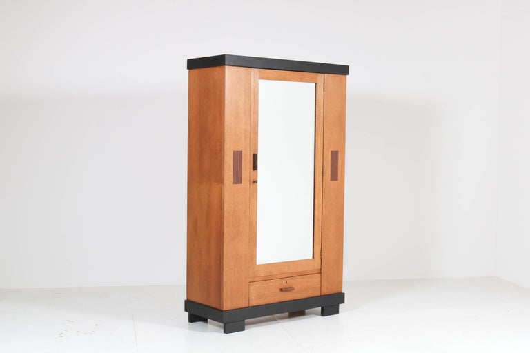Wonderful and rare Art Deco Haagse School armoir or wardrobe.
