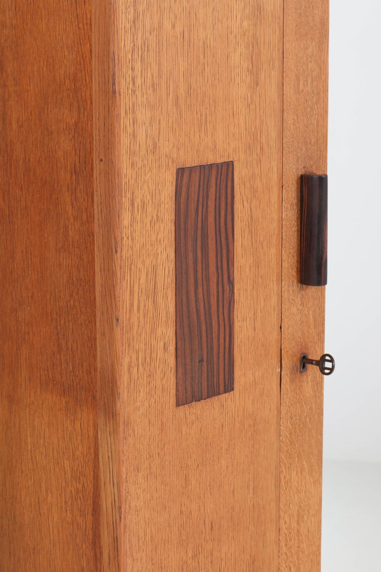 Dutch Oak Art Deco Haagse School Armoir or Wardrobe by Anton Lucas Leiden, 1920s For Sale