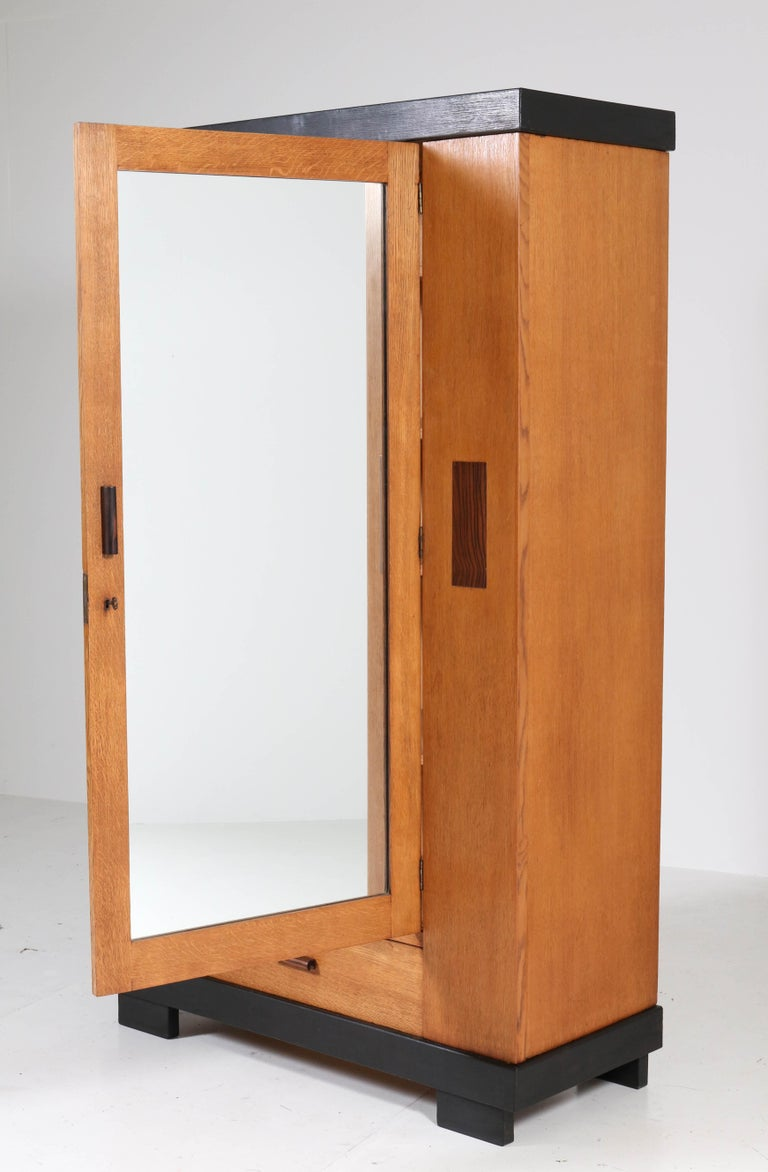 Oak Art Deco Haagse School Armoir or Wardrobe by Anton Lucas Leiden, 1920s For Sale 2