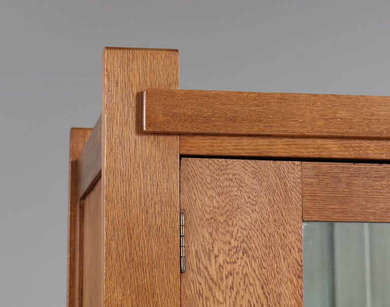 Oak Art Deco Haagse School Armoir or Wardrobe by Henk Wouda for Pander, 1924 For Sale 2