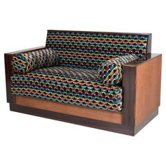 Oak Art Deco Haagse School Bench or Sofa by Anton Lucas, 1920s