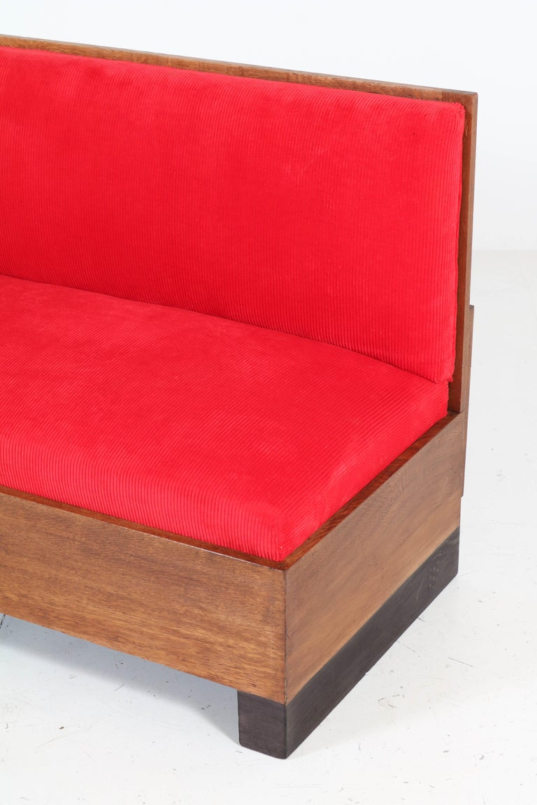 Oak Art Deco Haagse School Bench or Sofa by Willem Penaat for Metz & Co, 1930s For Sale 7