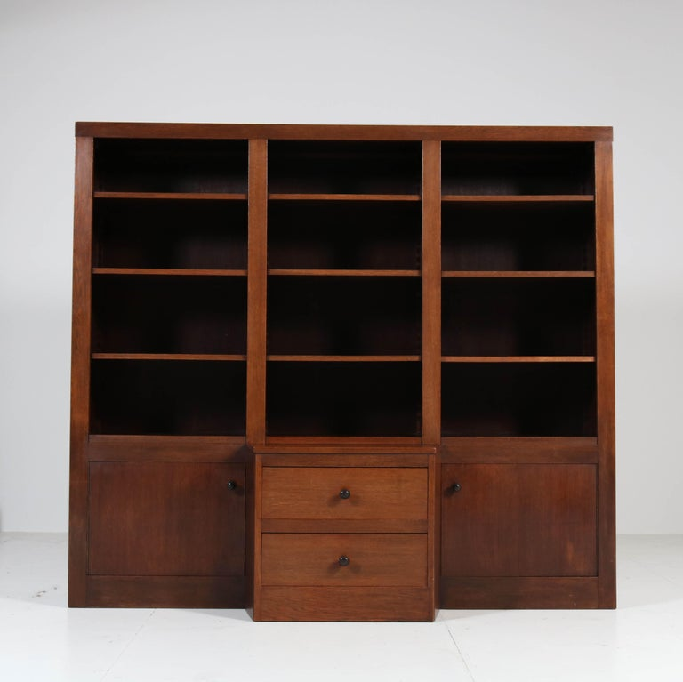 Wonderful and large Art Deco Haagse School bookcase.