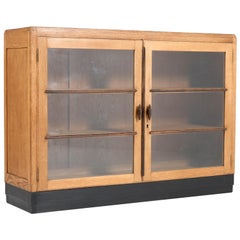 Oak Art Deco Haagse School Bookcase, 1920s