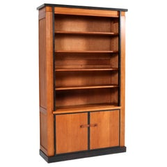 Oak Art Deco Haagse School Bookcase by Jan Brunott, 1920s