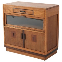 Oak Art Deco Haagse School Cabinet, 1920s