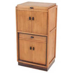Oak Art Deco Haagse School Cabinet or Dry Bar, 1920s