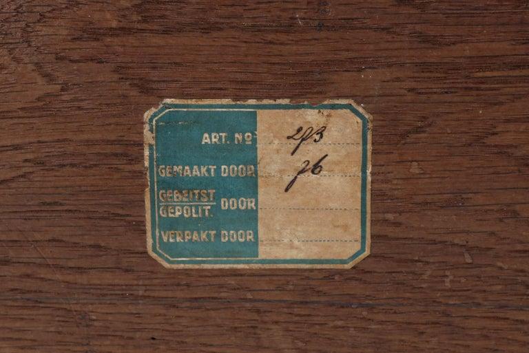 Oak Art Deco Haagse School Coat Rack by P.E.L. Izeren for Genneper Molen, 1920s For Sale 2