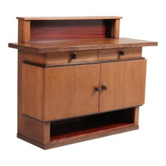 Oak Art Deco Haagse School Credenza by P.E.L. Izeren for Genneper Molen, 1920s