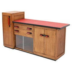 Oak Art Deco Haagse School Credenza or Sideboard by Jan Brunott, 1920s