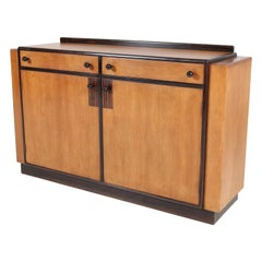 Oak Art Deco Haagse School Credenza or Sideboard by P.E.L. Izeren, 1920s