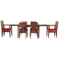Oak Art Deco Haagse School Dining Room Set by H. Fels for L.O.V., 1920s