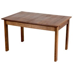 Oak Art Deco Haagse School Dining Room Table by L.O.V. Oosterbeek, 1920s