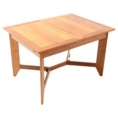 Oak Art Deco Haagse School Dining Table by Hendrik Wouda for H. Pander & Zonen