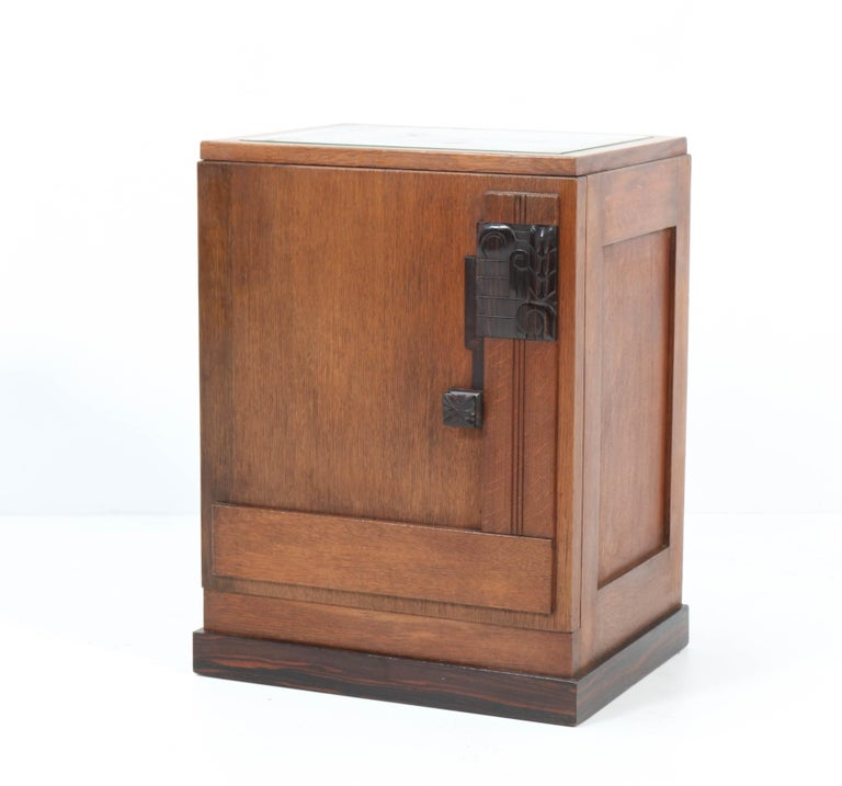Wonderful Art Deco Haagse School nightstand or bedside table.