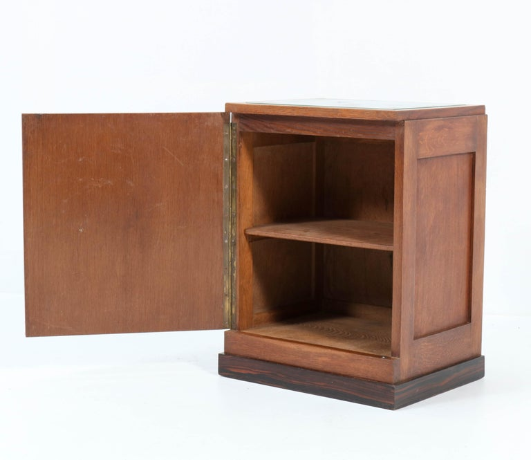 Oak Art Deco Haagse School Nightstand or Bedside Table, 1920s In Good Condition In Amsterdam, NL