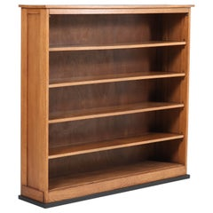Oak Art Deco Haagse School Open Bookcase by Jan Brunott, 1920s