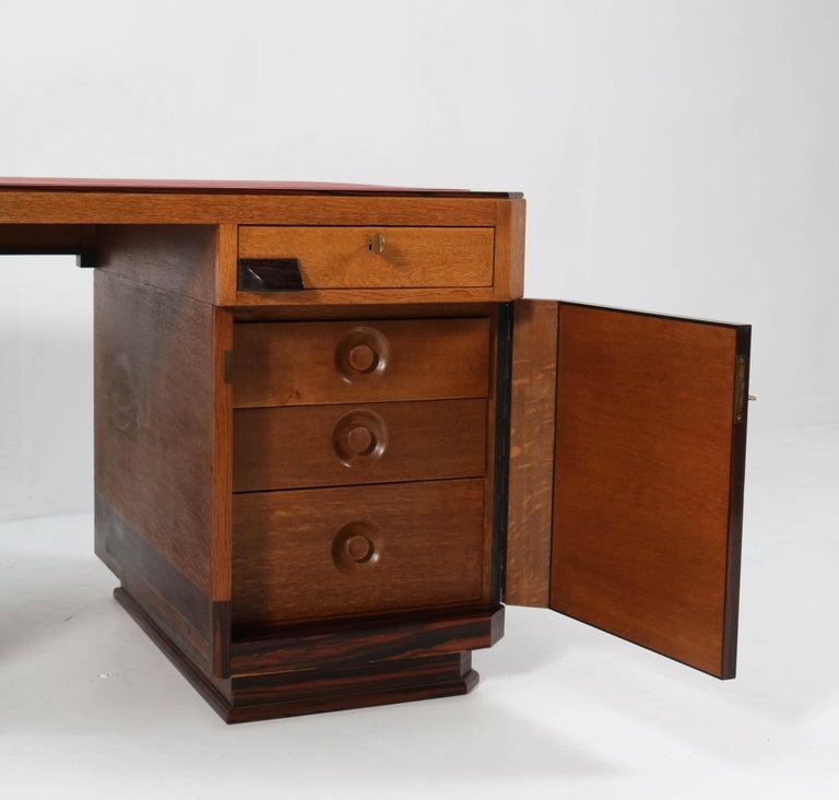 Oak Art Deco Haagse School Pedestal Desk by Anton Lucas, 1920s For Sale 2