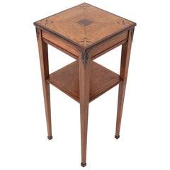 Oak Art Deco Haagse School Pedestal Table, 1920s