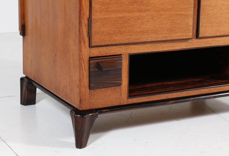 Oak Art Deco Haagse School Serving Cabinet by Anton Lucas, 1920s For Sale 5