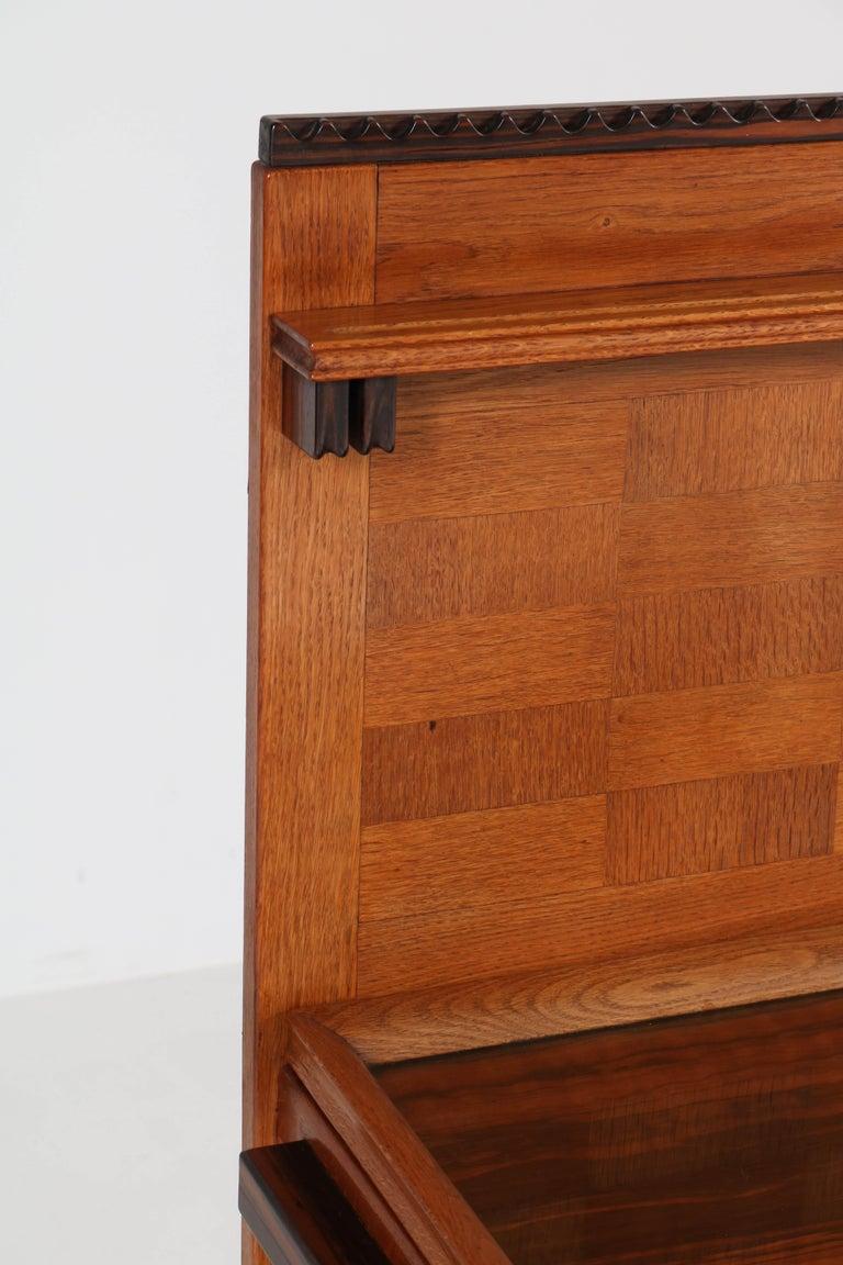 Oak Art Deco Haagse School Serving Cabinet by Anton Lucas, 1920s For Sale 6