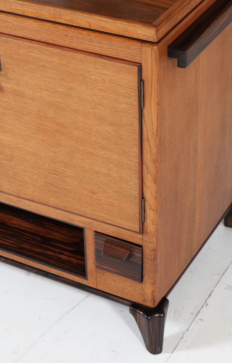 Oak Art Deco Haagse School Serving Cabinet by Anton Lucas, 1920s For Sale 7