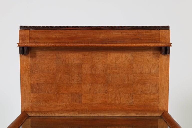 Oak Art Deco Haagse School Serving Cabinet by Anton Lucas, 1920s For Sale 8