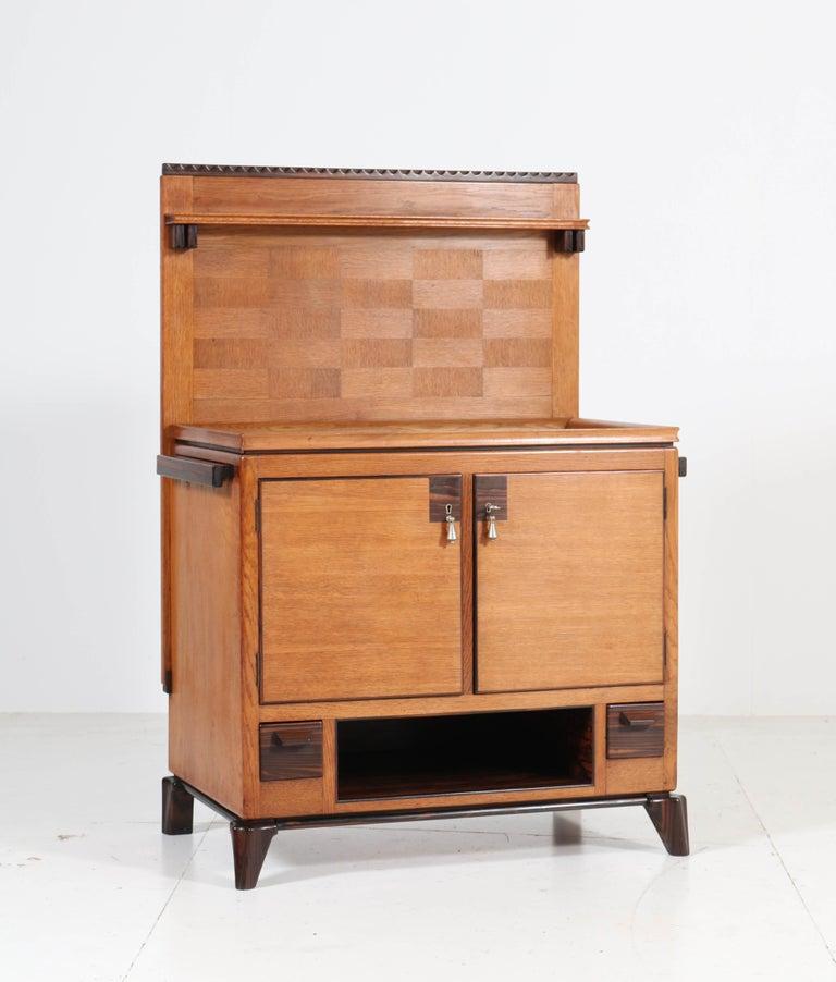 Dutch Oak Art Deco Haagse School Serving Cabinet by Anton Lucas, 1920s For Sale