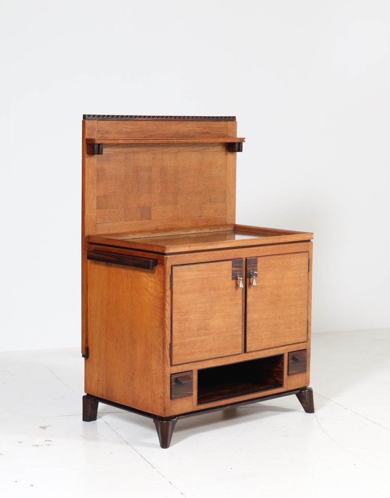 Early 20th Century Oak Art Deco Haagse School Serving Cabinet by Anton Lucas, 1920s For Sale