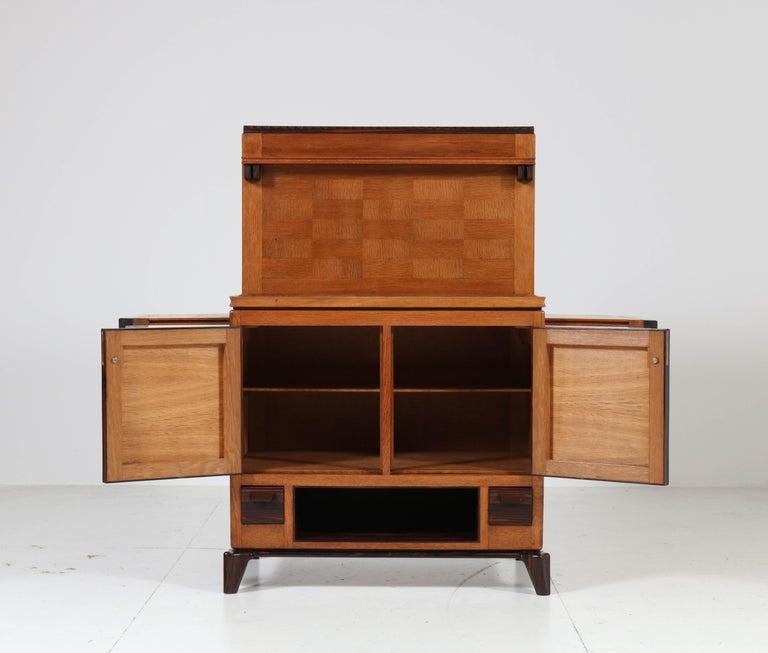 Oak Art Deco Haagse School Serving Cabinet by Anton Lucas, 1920s For Sale 1