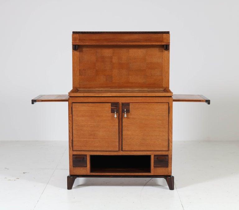 Oak Art Deco Haagse School Serving Cabinet by Anton Lucas, 1920s For Sale 2