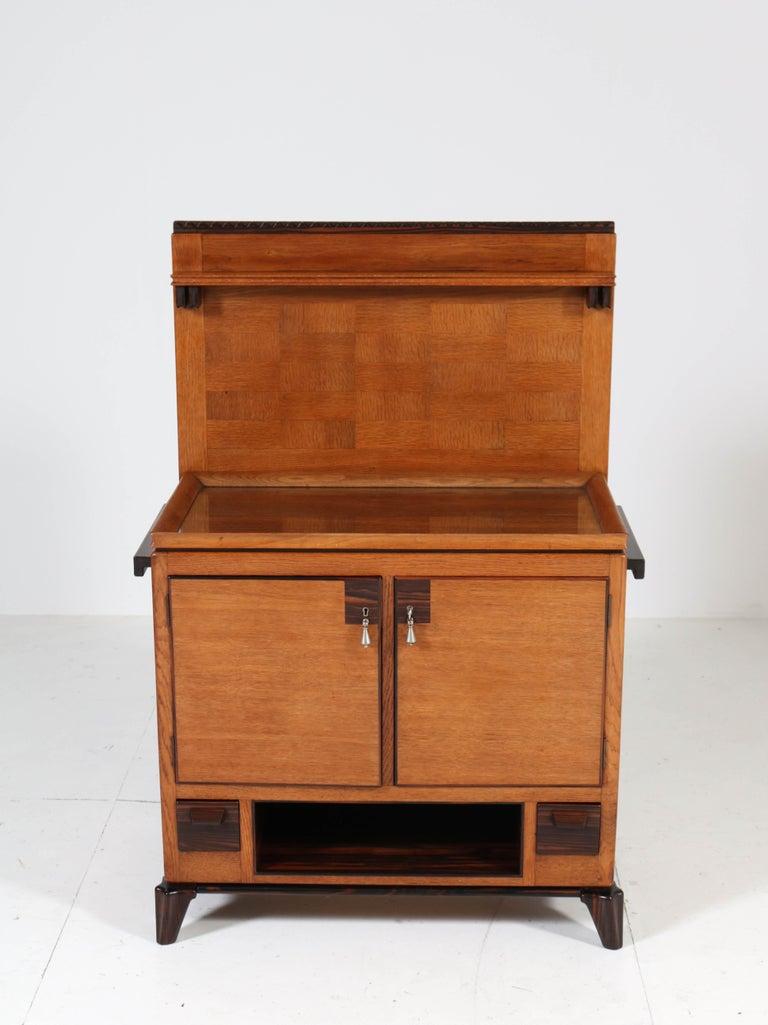 Oak Art Deco Haagse School Serving Cabinet by Anton Lucas, 1920s For Sale 3