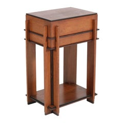 Oak Art Deco Haagse School Sewing Table by J. Roodenburgh, 1920s