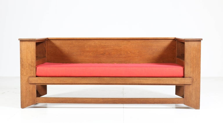 Magnificent and rare Art Deco Haagse School sofa or bench.