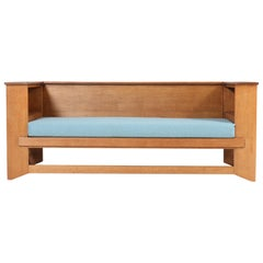 Oak Art Deco Haagse School Sofa or Bench by Henk Wouda for Pander & Zonen, 1924