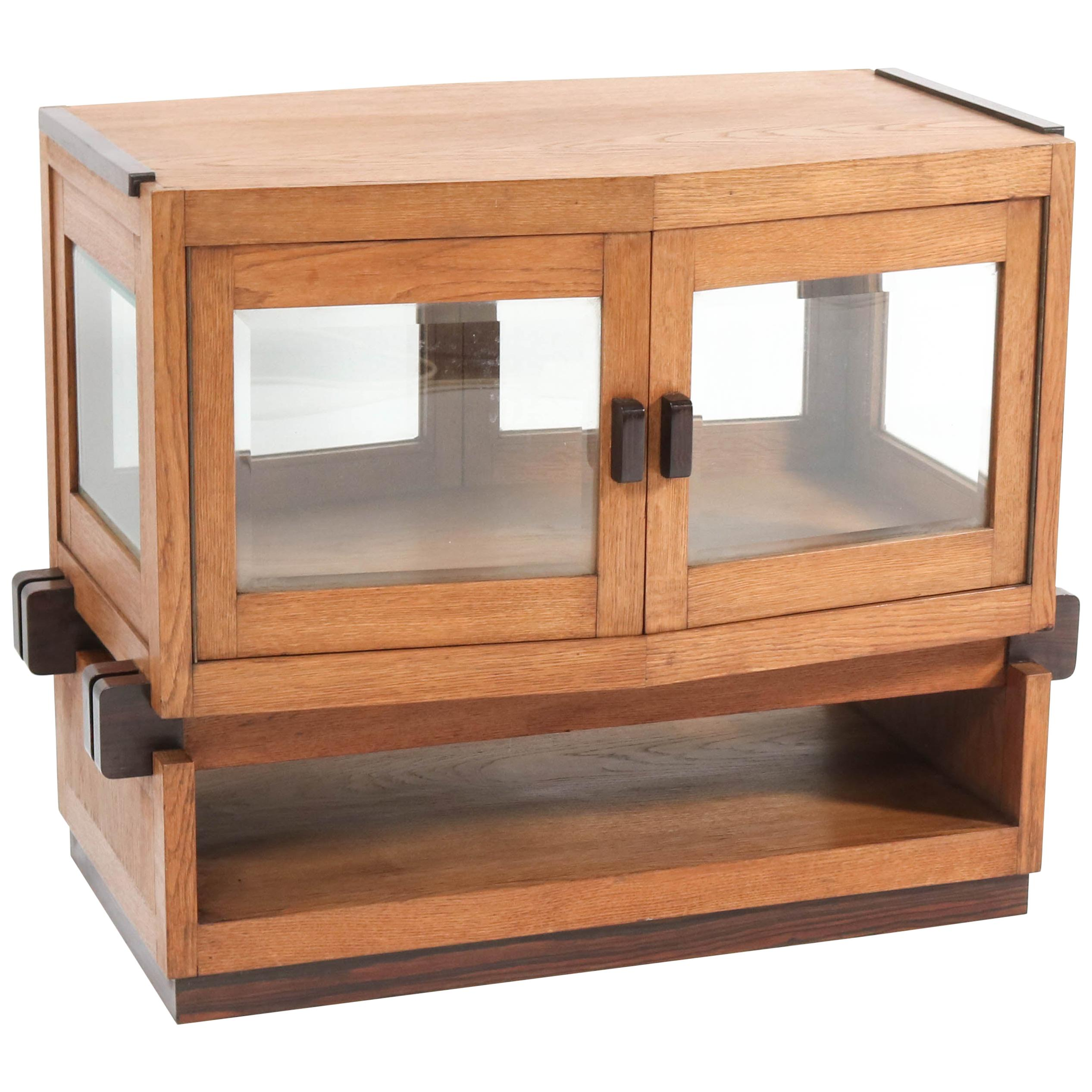 Oak Art Deco Haagse School Tea Cabinet by Anton Lucas Leiden, 1920s