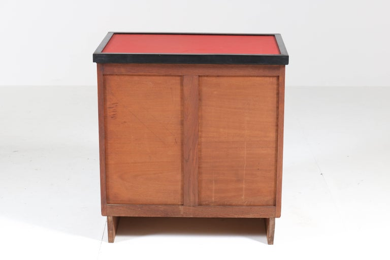 Oak Art Deco Haagse School Tea Cabinet by Jan Brunott, 1920s 6