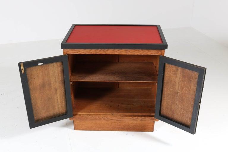 Oak Art Deco Haagse School Tea Cabinet by Jan Brunott, 1920s 2