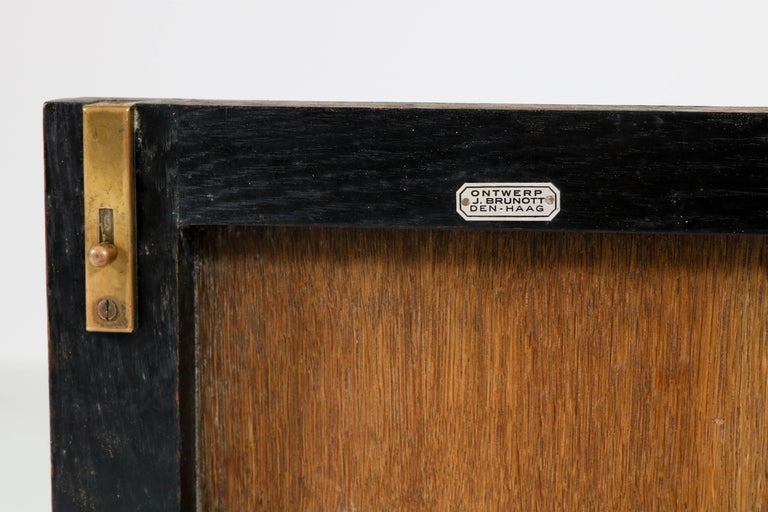 Oak Art Deco Haagse School Tea Cabinet by Jan Brunott, 1920s 3