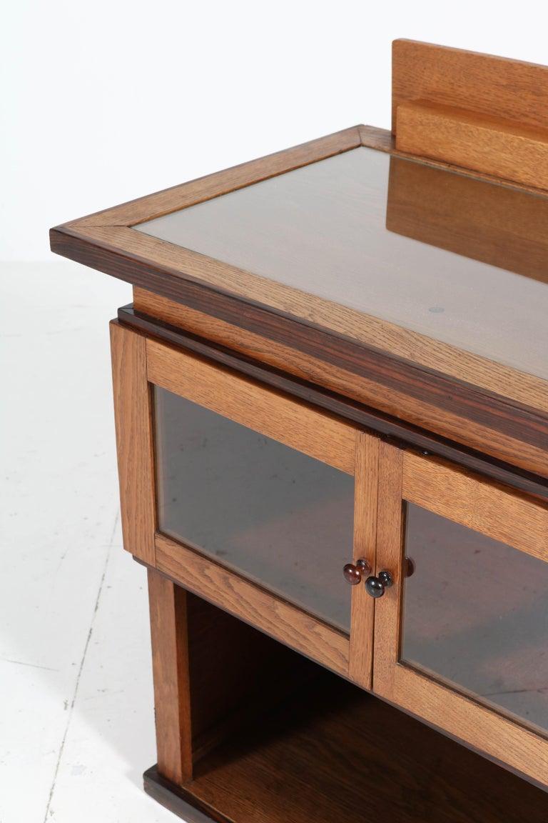 Early 20th Century Oak Art Deco Haagse School Tea Cabinet by P.E.L. Izeren for Genneper Molen For Sale