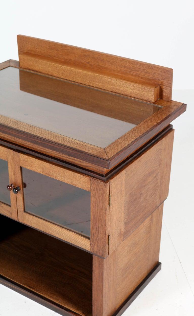 Oak Art Deco Haagse School Tea Cabinet by P.E.L. Izeren for Genneper Molen For Sale 2
