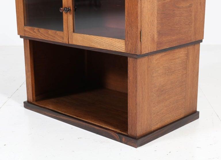 Oak Art Deco Haagse School Tea Cabinet by P.E.L. Izeren for Genneper Molen For Sale 3